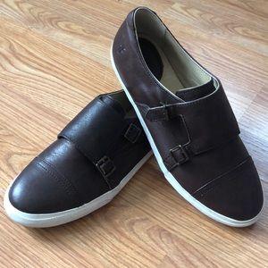 FRYE Dark Brown Leather Sneakers Sz 8.5